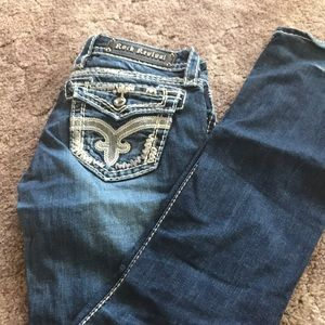 I am selling size 26 bootcut jeans. L:32